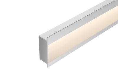 Perfil embutido de parede LED