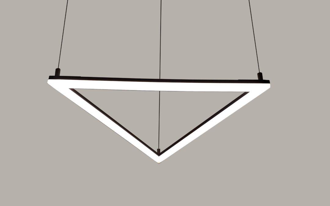 Luminária Triangular LED