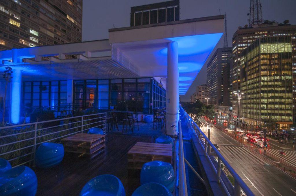 Blue Note - Sao Paulo - Iluminacao externa