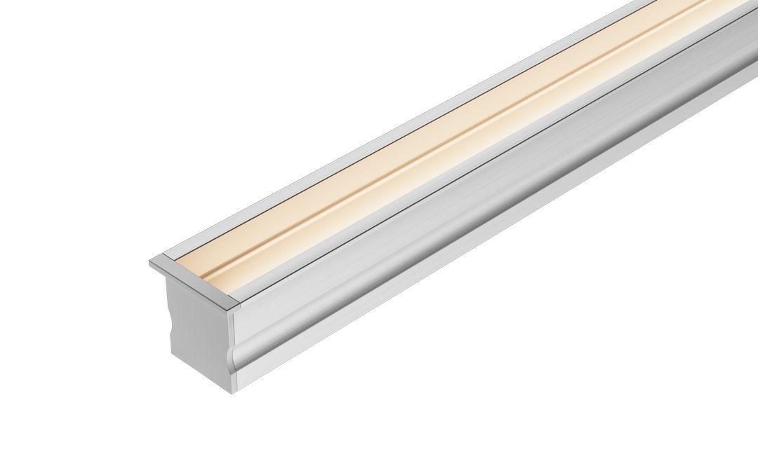 Perfil Embutido LED Recuado 25mm