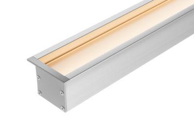 Perfil Embutido LED Recuado 40mm