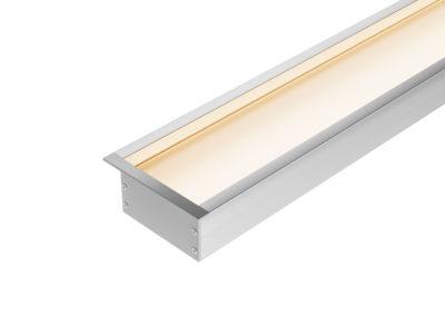 Perfil Embutido LED Recuado 80mm