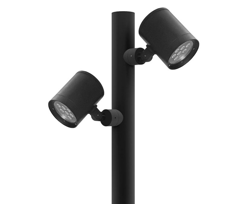Projetor LED Sobrepor orientável para poste